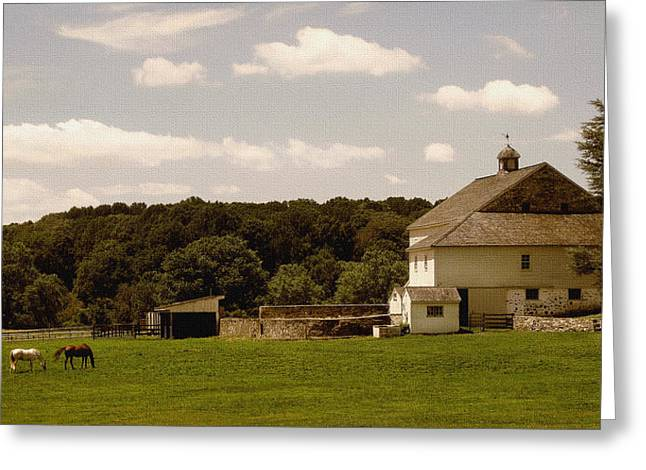 Stone Barn Greeting Cards - Pennsylvania Summer Greeting Card by Gordon Beck