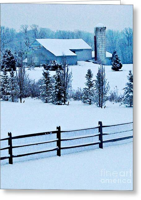 Sarah Loft Photographs Greeting Cards - Pennsylvania Winter Greeting Card by Sarah Loft