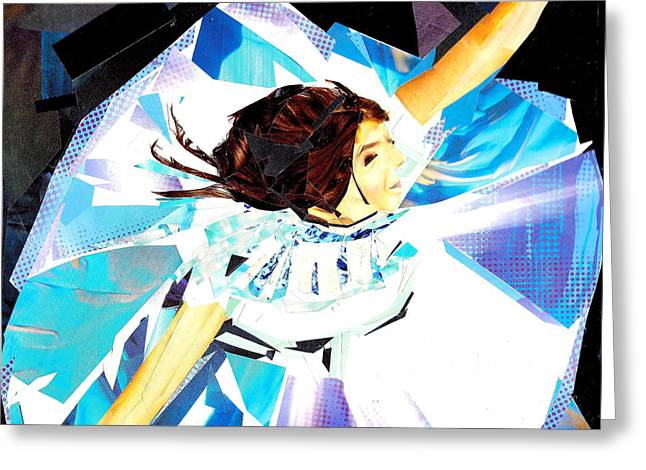 Sweat Mixed Media Greeting Cards - Penny - Dancing Queen Greeting Card by Paul Frederick Bush