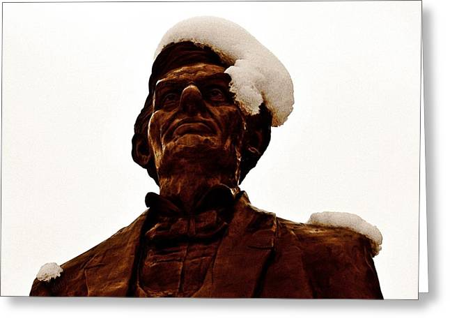 Brown Head Sculpture Greeting Cards - Penny for Your Thoughts Greeting Card by Chris Berry