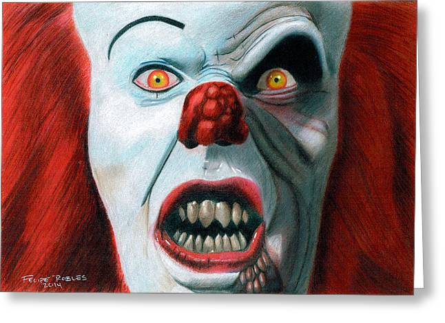 Pennywise The Clown Greeting Cards - Pennywise Greeting Card by Felipe Robles