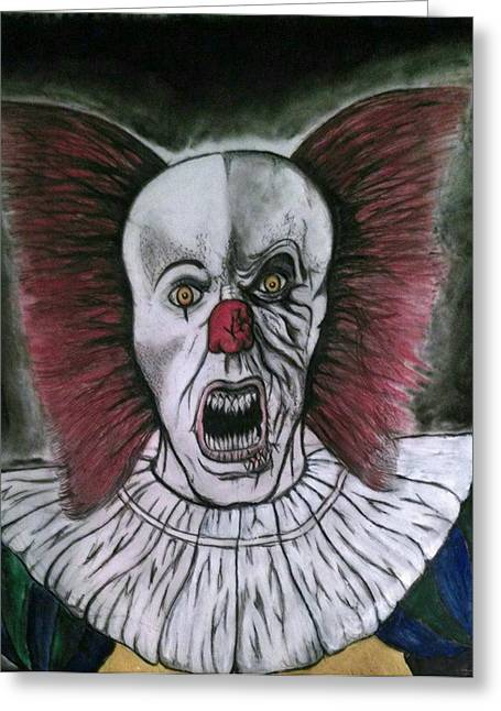 Pennywise The Clown Greeting Cards - Pennywise the Clown Greeting Card by Cameron Brewer