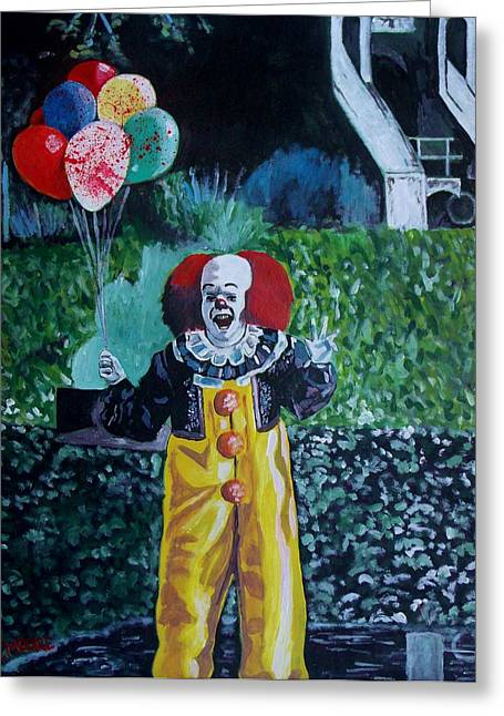 Pennywise Greeting Cards - Pennywise The Dancing Clown Greeting Card by Jeremy Moore