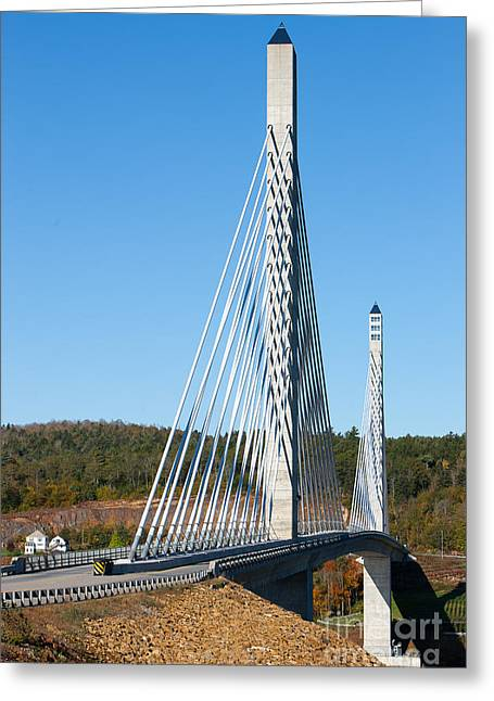 Prospects Greeting Cards - Penobscot Narrows Bridge I Greeting Card by Clarence Holmes