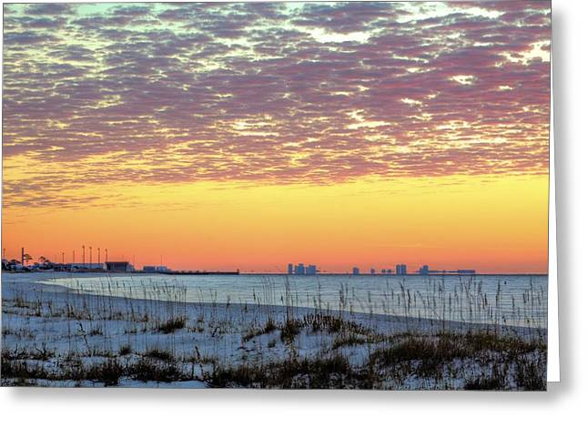 Surises Greeting Cards - Pensacola Bay Greeting Card by JC Findley