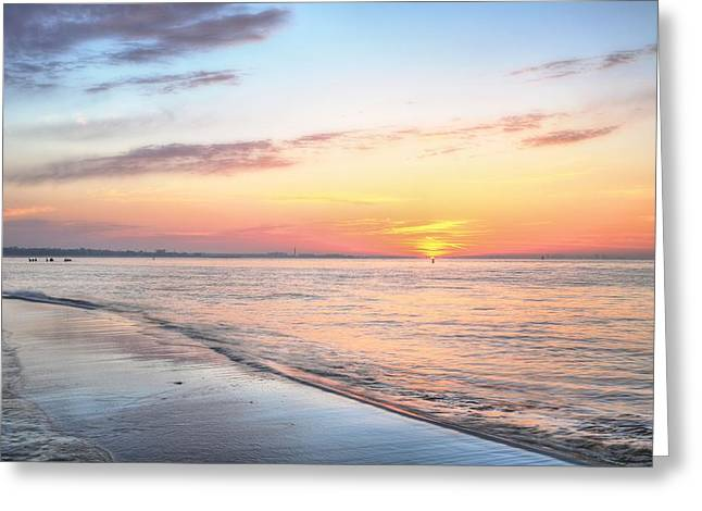 Surises Greeting Cards - Pensacola Bay Serenity Greeting Card by JC Findley