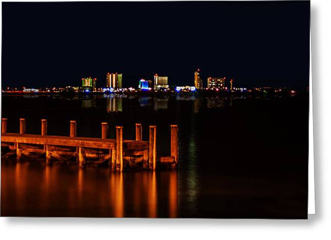 Pensacola Beach Reflections Greeting Card by Mechala  Matthews