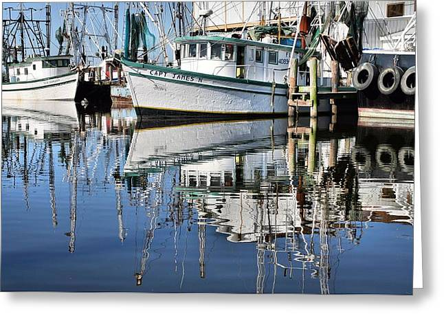 Shrimp Boat Captains Greeting Cards - Pensacola Calm Greeting Card by JC Findley