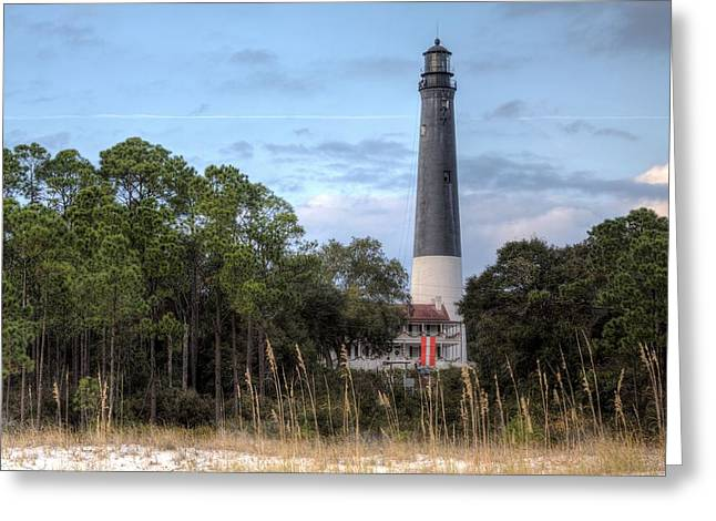 Sea Oats Greeting Cards - Pensacola Lighthouse Greeting Card by JC Findley
