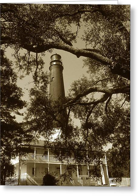 Lighthouse Photography Greeting Cards - Pensacola Lighthouse Greeting Card by Skip Willits