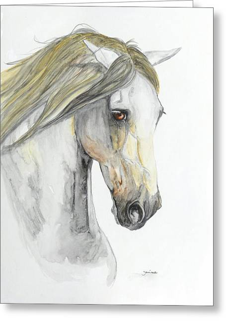 Janina Suuronen Art Greeting Cards - Pensador Greeting Card by Janina  Suuronen