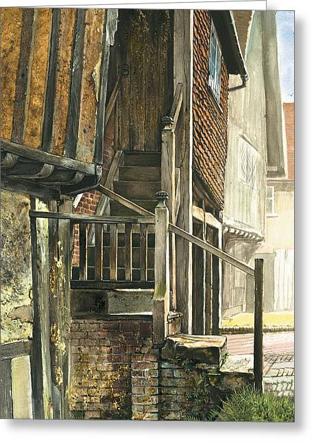 Crisp Greeting Cards - Penshurst Steps Greeting Card by Steve Crisp
