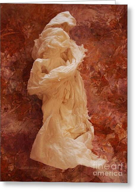 Acrylic Sculptures Greeting Cards - Pensive 2 Greeting Card by Nancy Kane Chapman