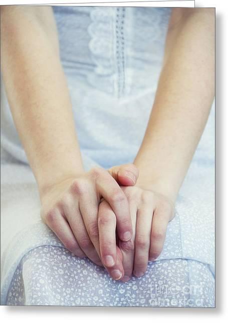 Pensive Greeting Cards - Pensive Greeting Card by Margie Hurwich