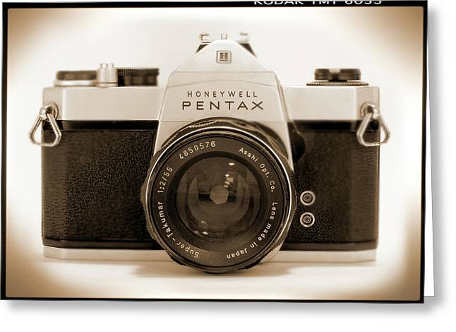 Slr Greeting Cards - Pentax Spotmatic IIa Camera Greeting Card by Mike McGlothlen