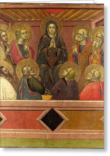 Pentecost Paintings Greeting Cards - Pentecost Greeting Card by Barnaba da Modena