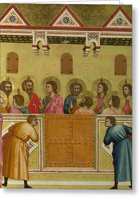 Bondone Greeting Cards - Pentecost Greeting Card by Giotto di Bondone