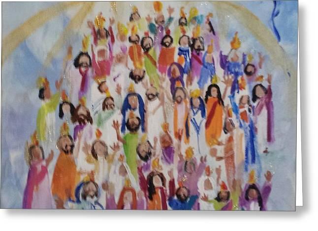 Pentecost Greeting Card by Paula Stacy Adams