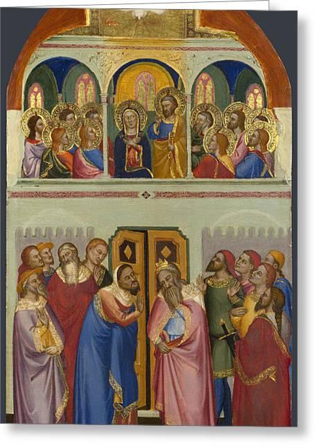 Pentecost Greeting Cards - Pentecost  Greeting Card by Raphael  Sanzio