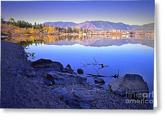 Penticton Greeting Cards - Penticton Reflections Greeting Card by Tara Turner