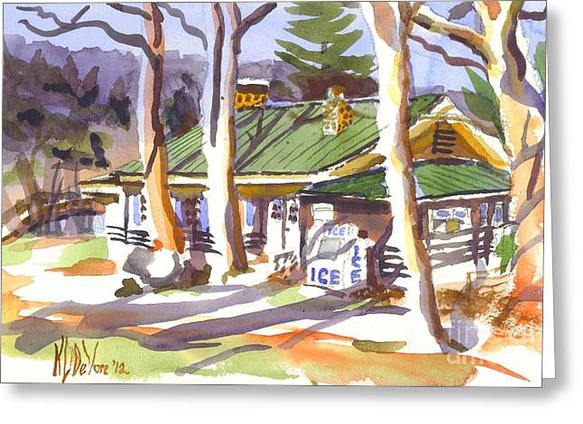 Shadows Cast Greeting Cards - Penuel Lodge in Winter  Greeting Card by Kip DeVore