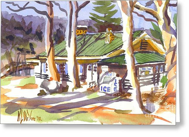 Penuel Lodge In Winter  Greeting Card by Kip DeVore