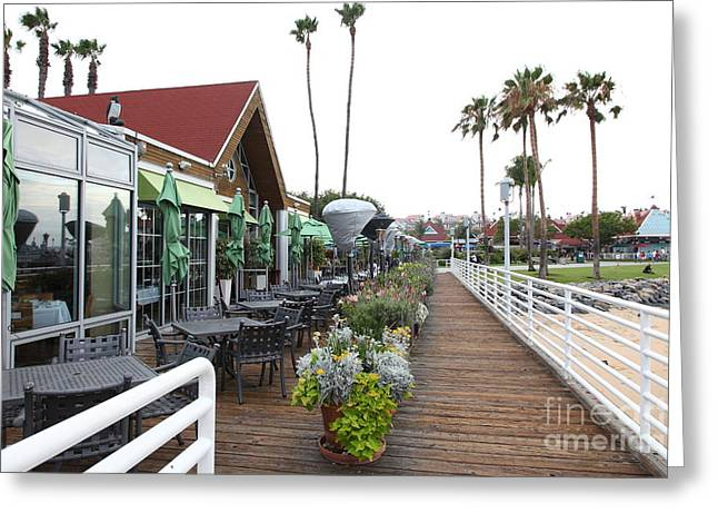 Coronado Harbor Greeting Cards - Peohes Restaurant In Coronado California 5D24355 Greeting Card by Wingsdomain Art and Photography