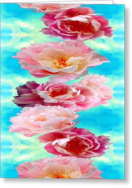 Androidography Greeting Cards - Peonies Greeting Card by AlyZen Moonshadow