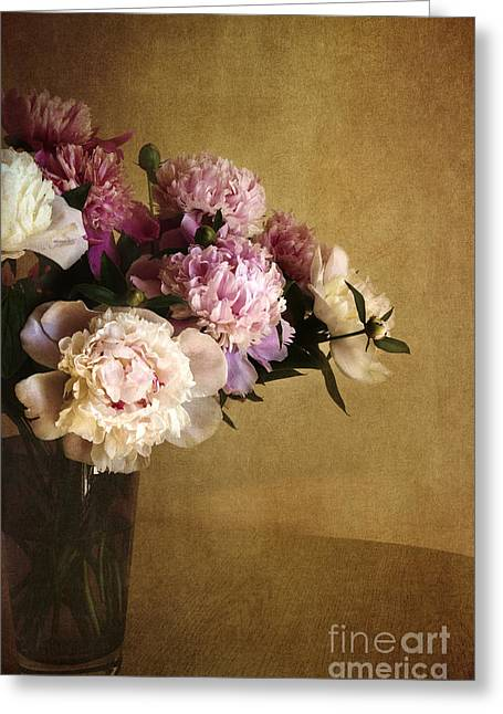 Ornamental Plants Greeting Cards - Peonies Greeting Card by Elena Nosyreva