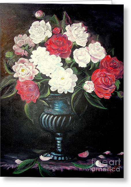Peonies Greeting Card by Sorin Apostolescu