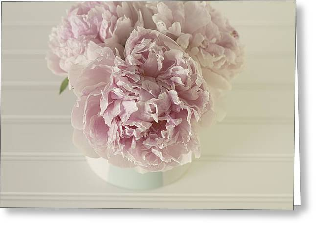 Tenderly Greeting Cards - Peony Love Greeting Card by Kim Hojnacki