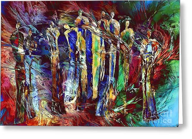 Subtle Colors Greeting Cards - People 642-12-13 marucii Greeting Card by Marek Lutek