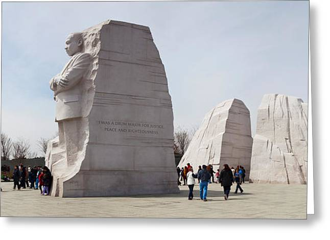 Martin Luther King Jr. Greeting Cards - People At Martin Luther King Jr Greeting Card by Panoramic Images