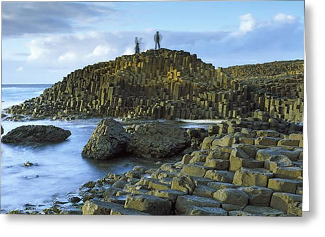 Climbing In Greeting Cards - People Climbing On Rocks At Giants Greeting Card by Panoramic Images