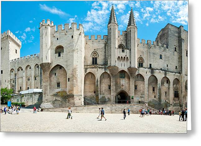 Fortified Wall Greeting Cards - People In Front Of A Palace, Palais Des Greeting Card by Panoramic Images