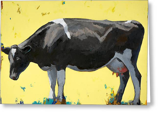 Cow Paintings Greeting Cards - People Like Cows #12 Greeting Card by David Palmer
