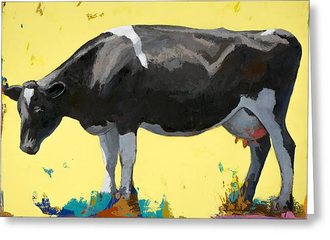 People Like Cows #12 Greeting Card by David Palmer