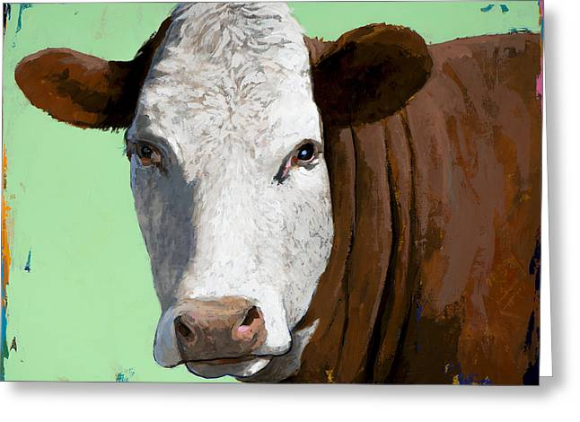 Pop Greeting Cards - People Like Cows #14 Greeting Card by David Palmer