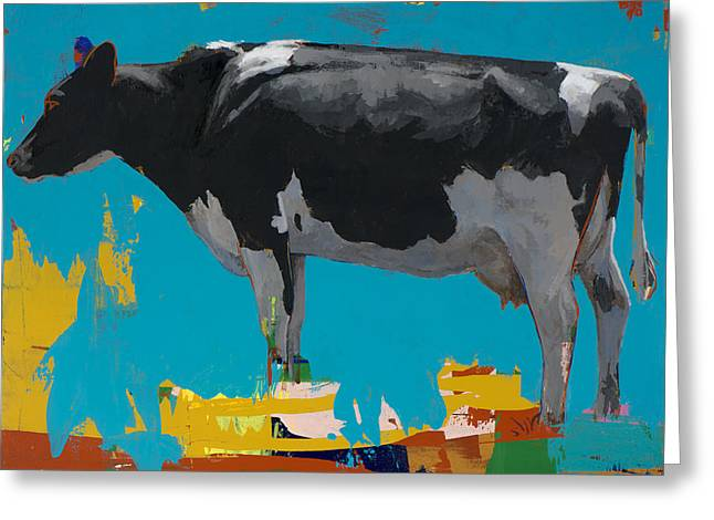 Cow Paintings Greeting Cards - People Like Cows #15 Greeting Card by David Palmer