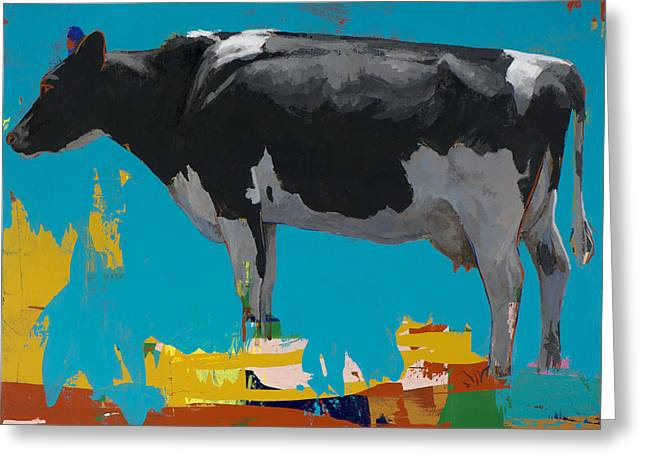 Cow Greeting Cards - People Like Cows #15 Greeting Card by David Palmer