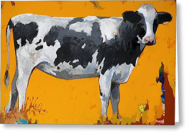 Cow Paintings Greeting Cards - People Like Cows #16 Greeting Card by David Palmer