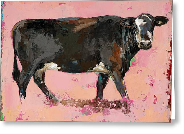 Cow Art Greeting Cards - People Like Cows #2 Greeting Card by David Palmer