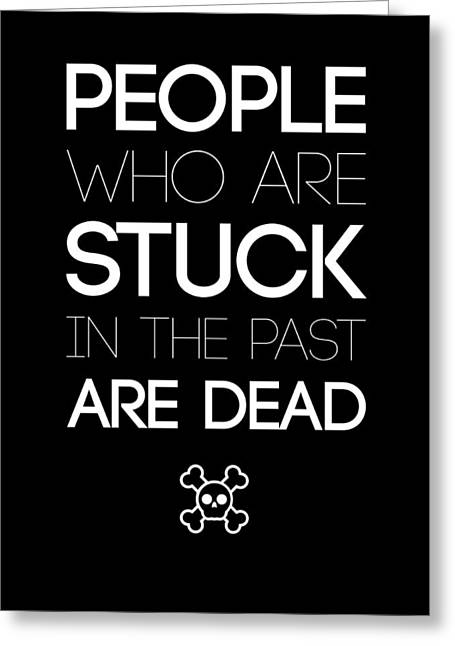 Fun Greeting Cards - People Who Are Stuck Poster 2 Greeting Card by Naxart Studio