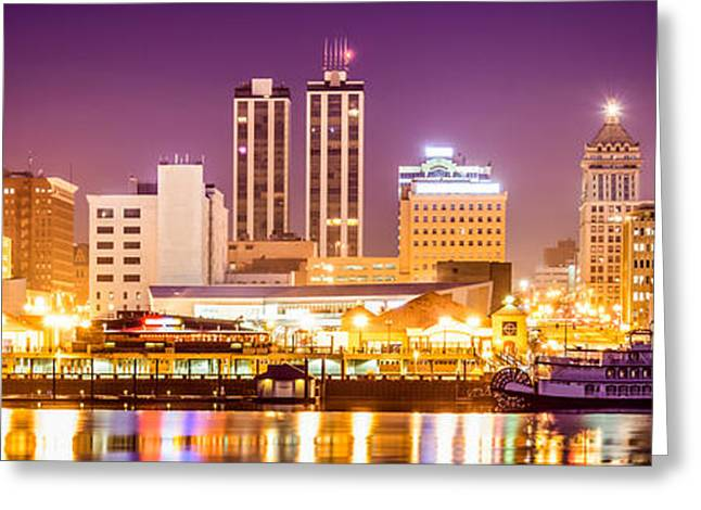Riverboats Greeting Cards - Peoria Illinois Skyline Panorama Picture Greeting Card by Paul Velgos