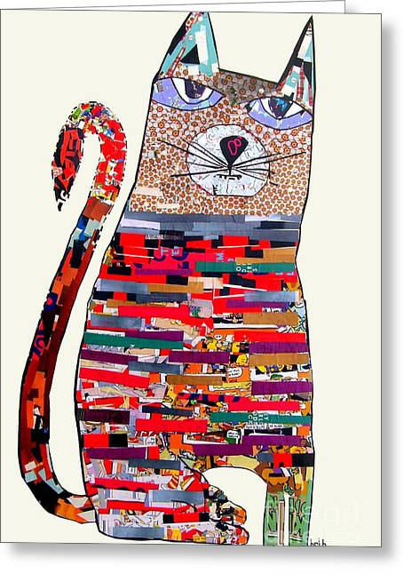 Portraits Of Cats Greeting Cards - Pepper  Greeting Card by Bri Buckley