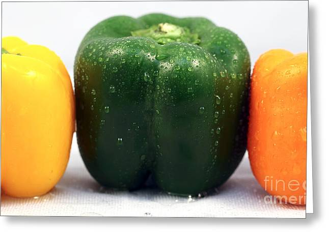 Yellow Pepper Greeting Cards - Pepper Colors Greeting Card by John Rizzuto