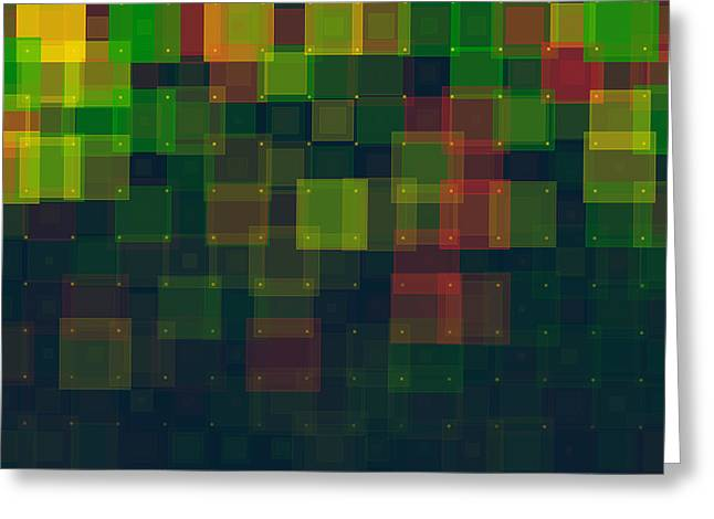 People Greeting Cards - Pepper Geometric Squares Pattern Greeting Card by Frank Ramspott