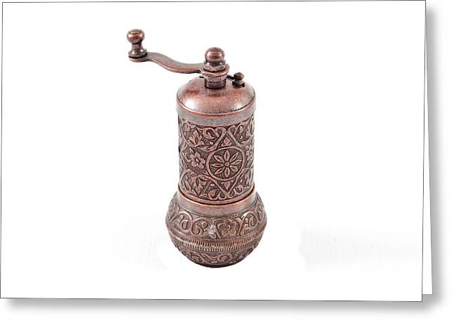 Old Relics Greeting Cards - Pepper grinder Greeting Card by Tom Gowanlock