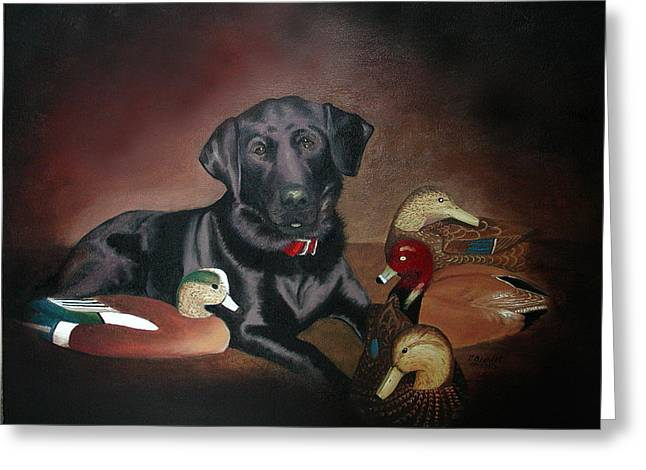 Cecilia Brendel Greeting Cards - Pepper Lab Dog Greeting Card by Cecilia  Brendel