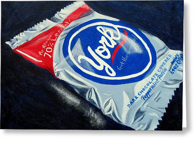 Peppermint Pattie Greeting Card by Pamela Burger